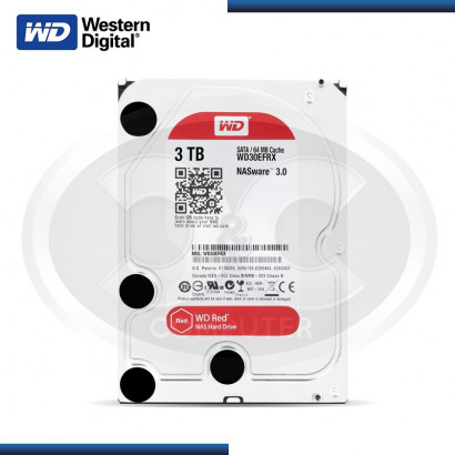 DISCO DURO WD RED 3TB SATA 6GB/s, 64MB P/ NAS