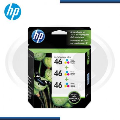 TINTA HP Nª 46 TRI PACK (MOH60AL) TRICOLOR  (2250 PAG)