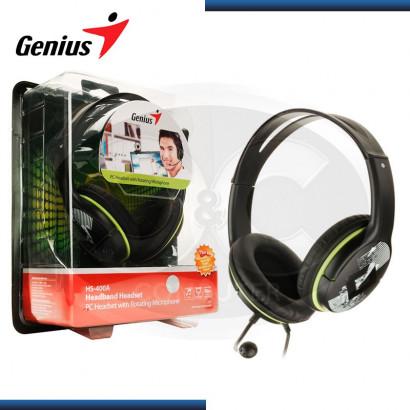 AUDIFONO C/MICROFONO GENIUS HS-400A GREEN (PN:31710169100)