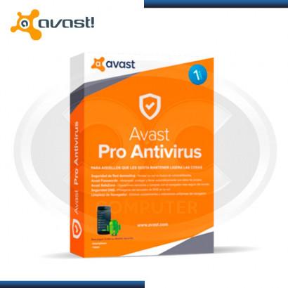 ANTIVIRUS AVAST PRO 2017 1PC (PN:6155991)
