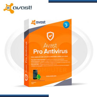 ANTIVIRUS AVAST PRO 2017 3 PC (PN:6155992)