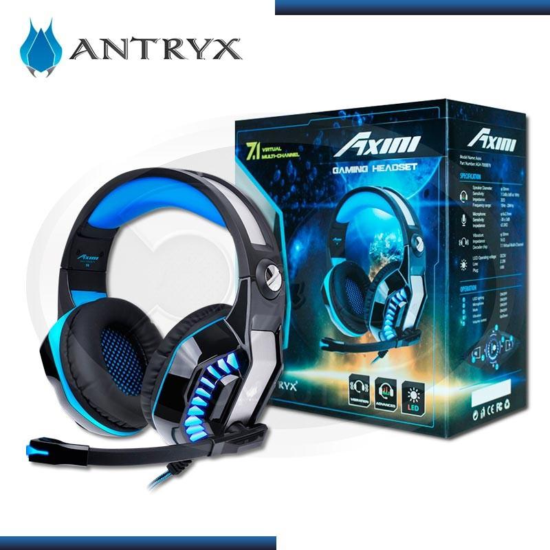 AUDIFONO ANTRYX AXINI BLUE CON MICROFONO USB (PN: AGH-7000B7V)