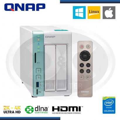 ALMACENAMIENTO NAS QNAP TS-251A, 2 BAHIAS, SATA 6GB/S, USB 3.0, LAN, RAID 0 -1, HDMI (PN:TS-251A-2G-US)