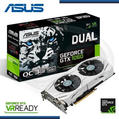 3GB PCI EXP. ASUS GEFORCE DUAL GTX 1060 OC GDDR5 (PN:90YV09X3-M0NA00)