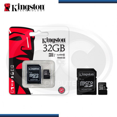 MEMORIA MICRO SDHC 32GB KINGSTON CLASS 10  (PN:SDC10G2/32GB)