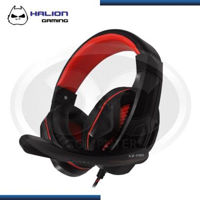 AUDIFONO GAMER HALION GAMING X2 PRO ROJO LED USB