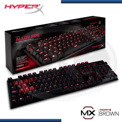 TECLADO GAMER HYPERX ALLOY BROWN, ESPAÑOL, MECÁNICO, USB, (PN:HX-KB1BR1-LA/A4)