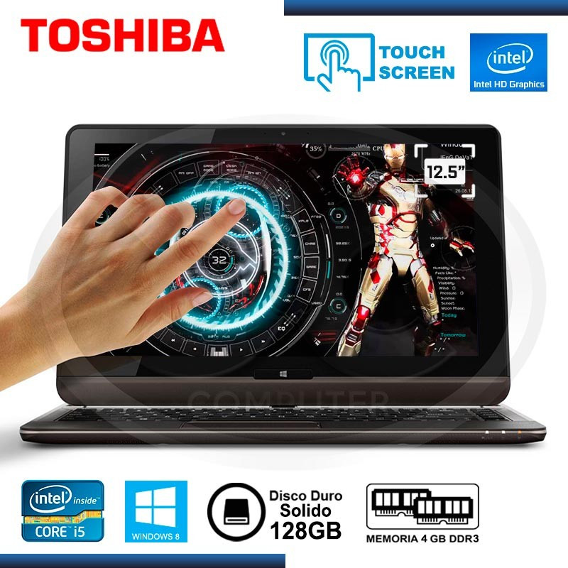 "ULTRABOOK CI5 TOSHIBA U925T-SP2101L TOUCH 12.5"" 4GB SSD128GB INTEL HD WIN8"