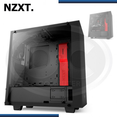 CASE NZXT S340 ELITE BLACK/RED MID TOWER, SIN FUENTE (PN:CA-S340W-B4)