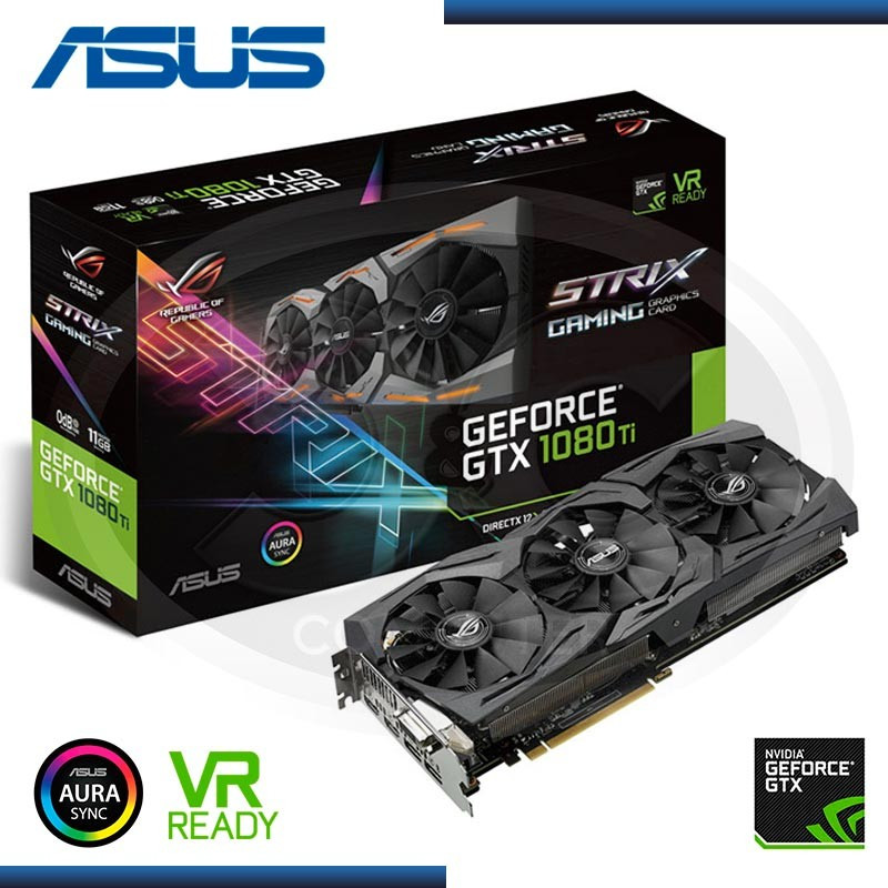 11GB PCI EXP. ASUS GEFORCE GTX 1080 TI GDDR5X,  STRIX-GTX1080TI-11G-GAMING (PN:90YV0AM1-M0NA00)