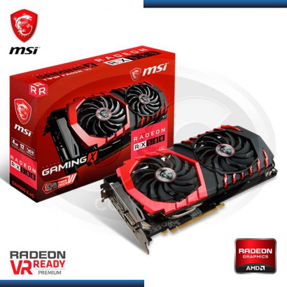 VIDEO PCI-EXP. MSI RADEON RX 580, 4GB GDDR5 256-BIT, (N/P RX 580 GAMING X 4G) HDMI/DL/DVI-D (PN:912-V341-062)