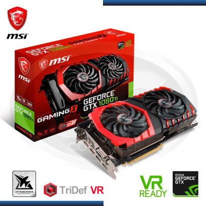 VIDEO PCI EXP. MSI GEFORCE GTX 1080 TI 11GB GDDR5X, 352BIT (PN:GTX 1080 TI GAMING X 11G) 912-V360-001