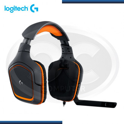 AUDIFONO C/MICROFONO LOGITECH G231 PRODIGY BLACK/ORANGE P/ XBOX ONE, PS4, PC (PN 981-000626)