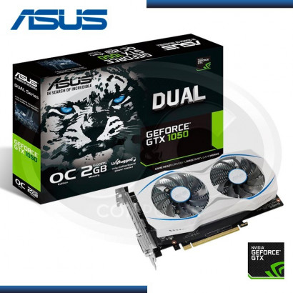 VIDEO PCI EXP. GEFORCE ASUS DUAL GTX1050 2GB OC GDDR5 128BIT (DUAL-GTX1050-O2G) (N/P 90YV0A80-M0NA00)