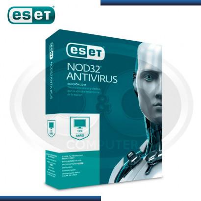 ESET NOD32 INTERNET SECURITY V.2017 LICENCIA ANUAL 1PC