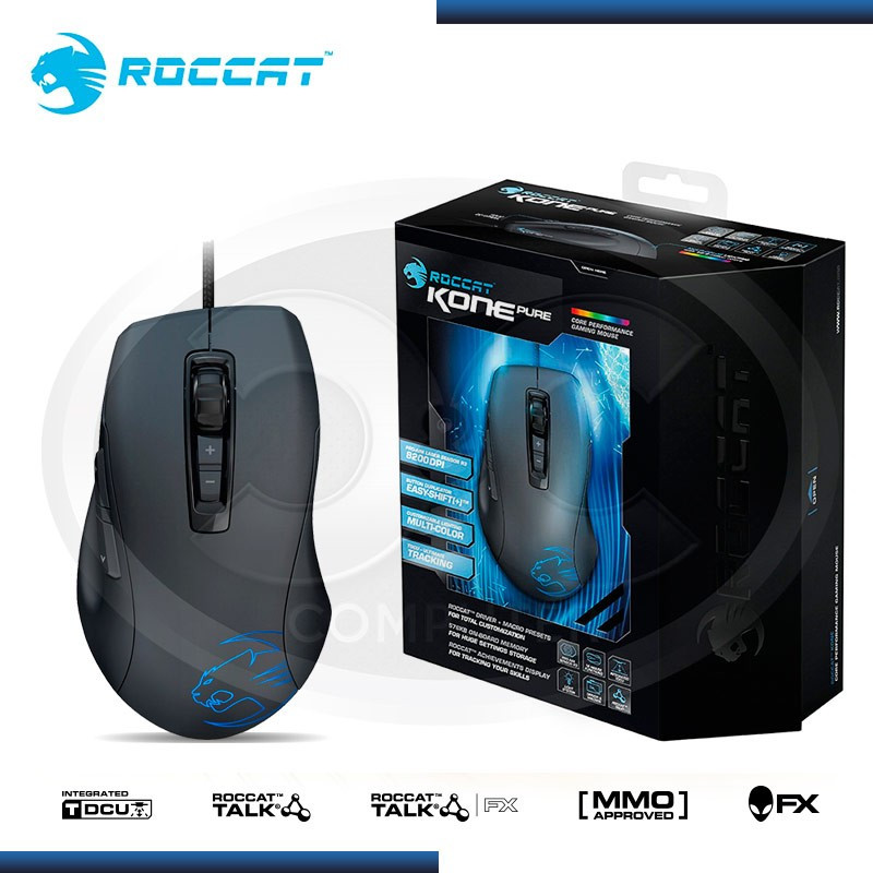 MOUSE ROCCAT KONE XTD MULTICOLOR GAMING 8200 DPI BLACK (PN:ROC-11-810)