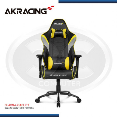 SILLAS GAMER AK-RACING OVERTURE SERIES AMARILLO (PN: AK-OVERTURE- YL)