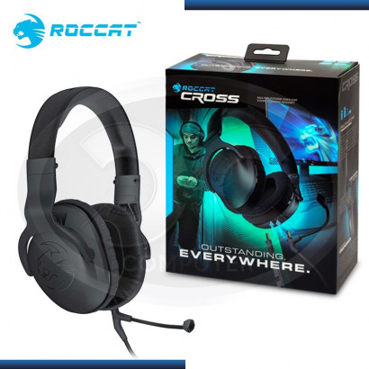 AUDIFONO C/ MICROFONO ROCCAT STEREO CROSS GAMING BLACK  (PN: ROC-14-510)