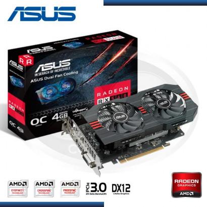 VIDEO PCI EXP. RADEON ASUS RX 560 4GB OC GDDR5, 128 BIT (PN:90YV0AH4-MONAOO)