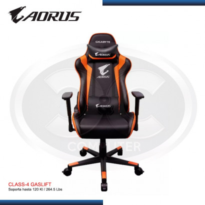 SILLAS GAMER  GIGABYTE AORUS BLACK/ ORANGE (PN: GP-AGC30  )