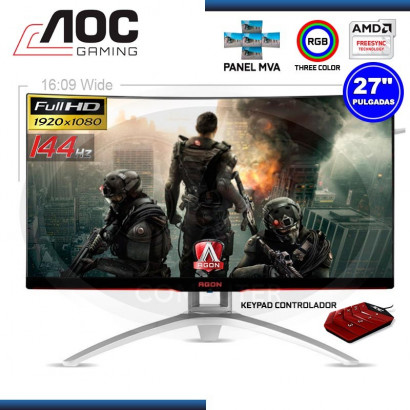 "MONITOR LED 27"" AOC AG272FCX GAMING 1920x1080 VGA/HDMI/DP/USB"