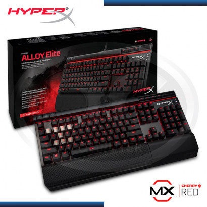 TECLADO HYPERX ALLOY ELITE CHERRY MX RED ILUMINACION RED (PN:HX-KB2RD1-LA/R2)