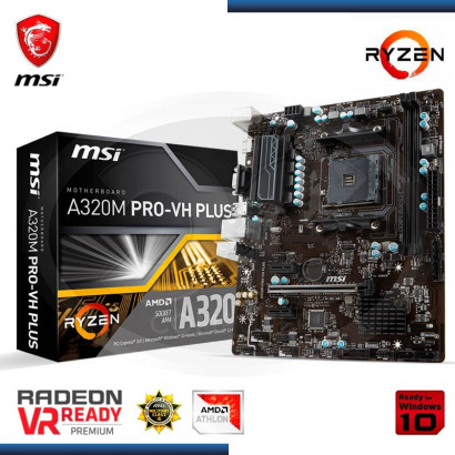 MB MSI A320M PRO- VH PLUS C/VIDEO-SONIDO-RED DDR4, AM4 , VGA, HDMI, USB 3.1