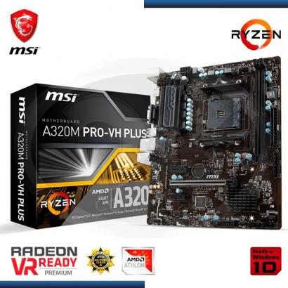 MB MSI A320M PRO- VH PLUS C/VIDEO-SONIDO-RED DDR4, AM4 , VGA, HDMI, USB 3.1