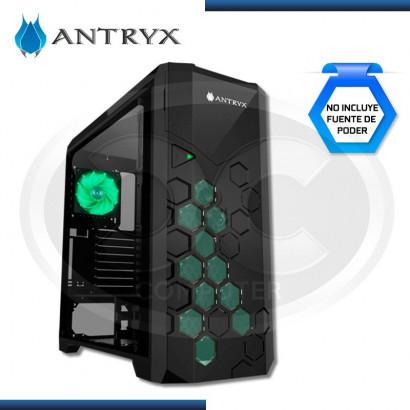 CASE ANTRYX  XTREME FX TITAN BLACK FULL TOWER S/ FUENTE USB 3.0, VIDRIO TEMPLADO (PN:AC-FX600K-W3FLG)