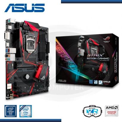 MB ASUS B250H STRIX GAMING C/SONIDO /LAN USB 3.0, X2  ,DDR4 LGA 1151 (PN:90MB0TS0-MOEAY0)