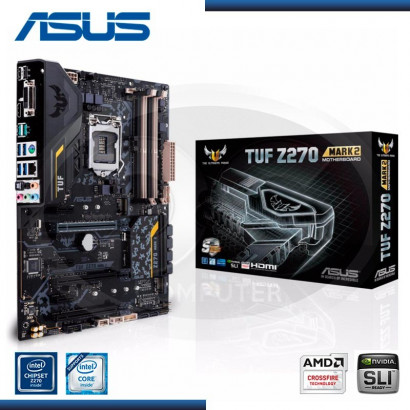 MB ASUS TUF Z270 MARK 2 C/SONIDO/RED  /HDMI/DP/ DDR4 LGA 1151 (PN:90MB0ST0-MOAAYO)