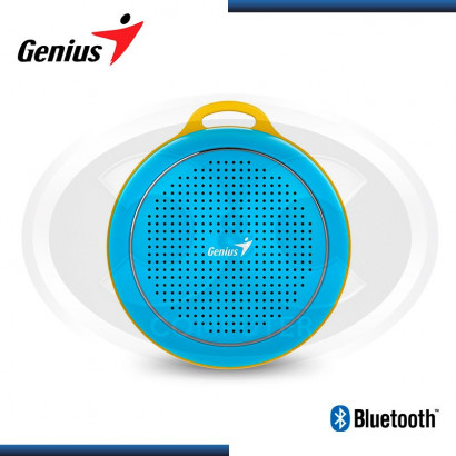 PARLANTE BLUETOOTH GENIUS SP-906BT BLUE/YELLOW, 3W RMS (PN 31731072101)
