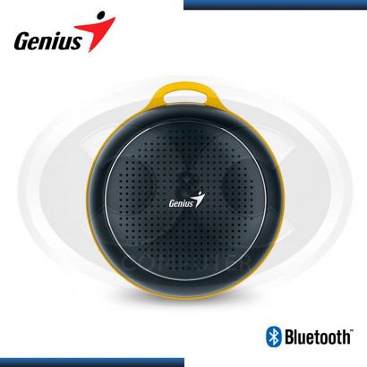 PARLANTE BLUETOOTH GENIUS SP-906BT BLACK/YELLOW 3W RMS (PN 31731072100)