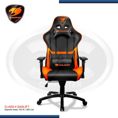 SILLA GAMER COUGAR ARMOR  BLACK/ ORANGE 120 KG