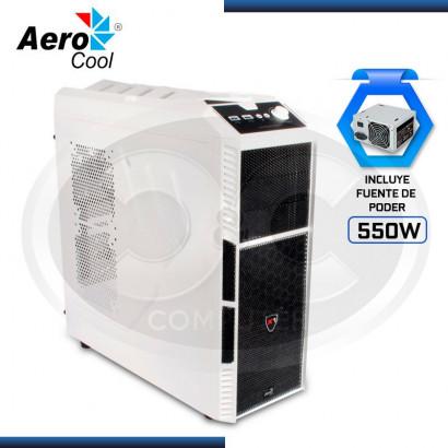 CASE AEROCOOL PREDATOR  X1 WHITE C/ FUENTE 550W REAL