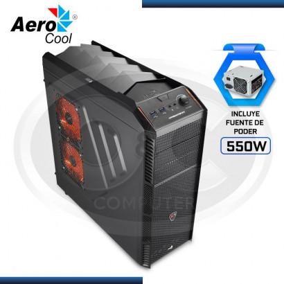 CASE AEROCOOL PREDATOR  X1 BLACK C/ FUENTE 550W REAL