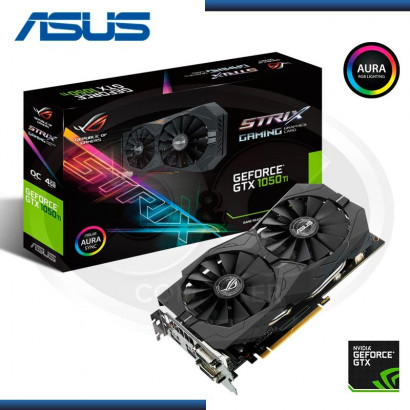 VIDEO PCI EXP. GEFORCE ASUS STRIX GAMING GTX1050 TI 4GB,  OC GDDR5, 128 BIT  (PN:90YV0A30-M0NA00)