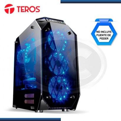 CASE TEROS GAMER ABBADON RGB BLACK USB 2.0 (2)  USB 3.0 (1) SIN FUENTE