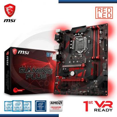 MB MSI Z370 GAMING PLUS VIDEO-SONIDO-RED DDR4, 2*PCI-E, DP, DVI,VGA, USB 3.1  LGA 1151