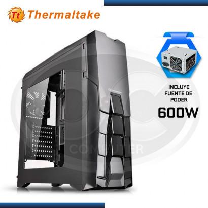CASE THERMALTAKE VERSA N25  BLACK + FUENTE 600 USB 2.0, USB 3.0 (PN:CA-3G2-60M1WU-00)