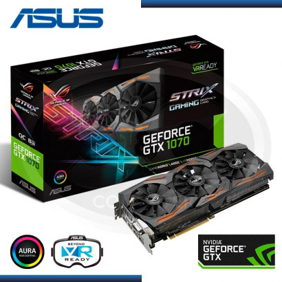 VIDEO ASUS ROG STRIX 1070 8GB GDDR5, 256 BIT, STRIX-GTX1070-O8G-GAMING (PN: 90YV09N0-M0NA00)