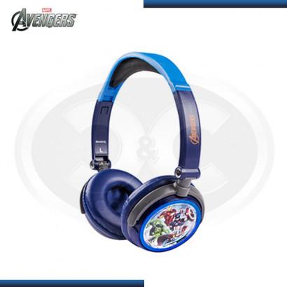 AUDIFONO AVENGERS DJ PLEGABLE BLUE/RED  (PN HP1-02043-ESP)