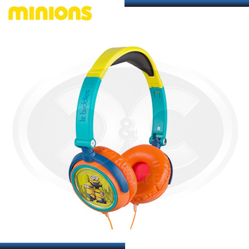 AUDIFONO MINIONS DJ PLEGABLE ORANGE/YELLOW (PN HP1-02089-ESP)