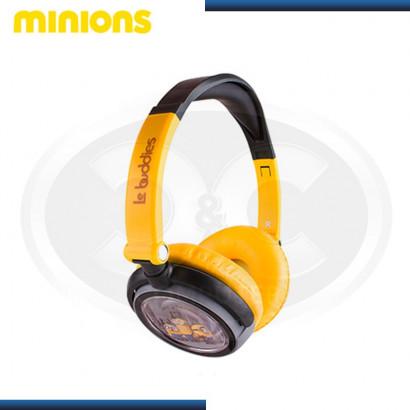 AUDIFONO MINIONS DJ PLEGABLE BLACK/YELLOW (PN HP1-02089-3-ESP)
