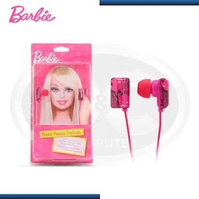 AUDIFONO BARBIE RECTANGLE EARBUDS PINK (11359)