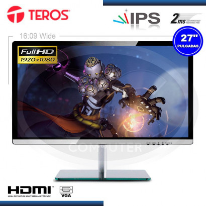 "MONITOR LED 27"" IPS FULL HD TEROS TE-X270FHD GAMING 1920X1080, HDMI, VGA (G.24M)"