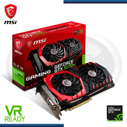 VIDEO PCI-E MSI GEFORCE GTX 1070 TI GAMING  8GB GDDR5, 256-BIT (PN: GTX 1070 TI GAMING 8G)