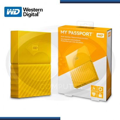 "DISCO DURO WESTERN DIGITAL EXTERNO 4TB MY PASSPORT 2.5"" YELLOW USB 3.0 (PN:WDBYFT0040BYL-0A)"