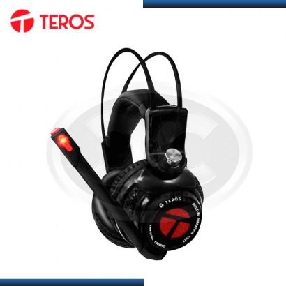 AUDIFONO C/MICROFONO TEROS GAMING BLACK, USB (TE-SEZ 461)
