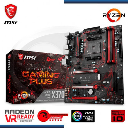 MB MSI X370 GAMING PLUS AM4 C/ SONIDO/RED, DDR4, DVI-D, HDMI
